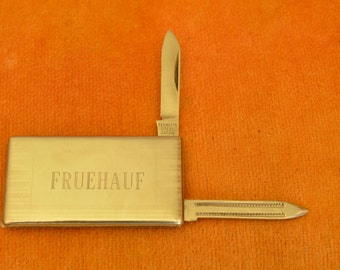 FRUEHAUF Trailer Co. Money Clip Knife