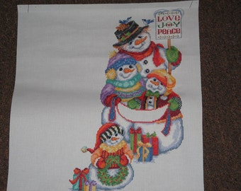 Counted Cross Stitch Christmas Stocking