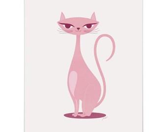 Pink Kitty Art Print