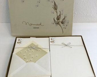 Vintage Stationery Set, Boxed Stationery by White and Wyckoff, Nomad Stationery, Letter Paper and Envelopes