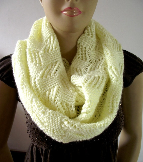 KNITTING PATTERN SCARF Infinity Scarf Cool Breeze Scarf pdf