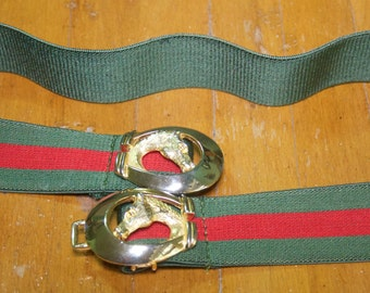 Vintage Gay Boyer Equestrian Stretch Belt