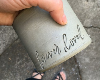 ADD ON. Add this stamp impression to your custom order. Urn needs to be purchased also.