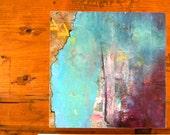 Art // original painting // wood // panel // blues
