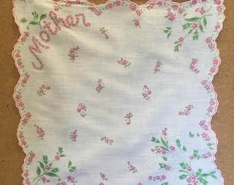 Vintage Handkerchief for Mother