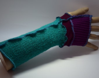 Upcycled Arm-warmers, Up-cycled, OOAK, Festival Gear. UK Seller, Ships Worldwide.