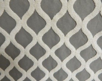 Gray DNA Upholstery Fabric