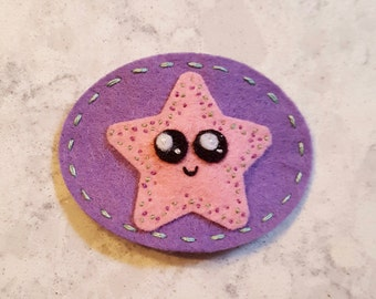 Felt no slip starfish hair clip