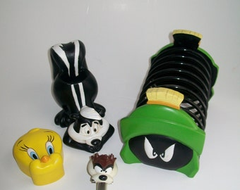 Vintage Looney Tunes Desk Accessories Warner Brothers Characters Pepe le Pew Tweety Taz Marvin the Martian 1995 YOUR CHOICE