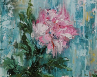 First Rose Original Painting by Kelly Berkey