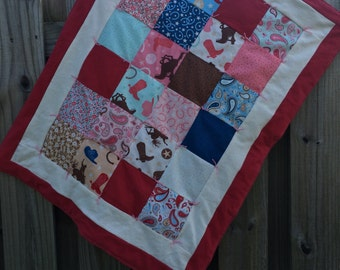 Paisley Cowgirl Baby Quilt