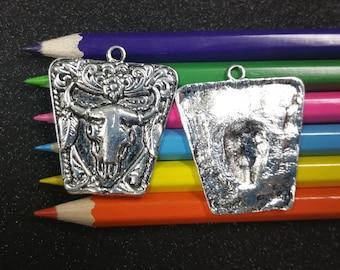 3 PCS - Buffalo Animal Native American Silver Charm Pendant C1358