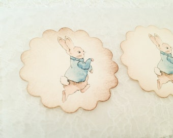 Peter Rabbit Stickers and Favors-Baby Shower Birthday Favor Stickers-Rabbit Stickers and Labels-Set of 12
