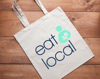 Eat Local Breastfeeding Lightweight Canvas Tote,