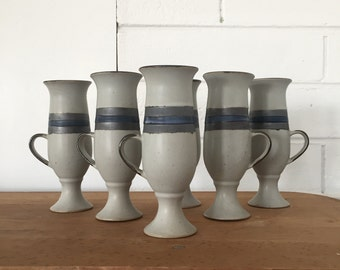 Set of 6 Vintage Otagiri Blue Horizon Mugs