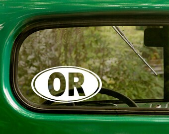 Oval OR Decal, Car Decal, Oval Oregon Sticker, Oregon Decal, Laptop Sticker, Oval Sticker, Bumper, Vinyl Decal, Car Sticker