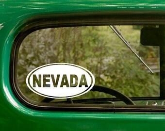 Oval Nevada Decal, Car Decal, Nevada Sticker, Laptop Sticker, Oval Sticker, Bumper sticker, Vinyl Decal, Car Stickers