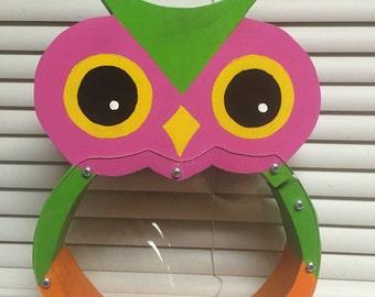 Happy Owl Coin Bank