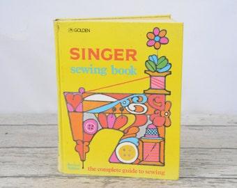 Vintage Singer Sewing Book Golden Press 1970's 2nd edition
