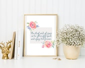 The Chief End of Man {Floral Instant Download. Watercolor Bible Verse. Bible Wall Art. Bible Verse for Home. Bible Verse for Dorm Room}