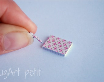 Notebook with matching pen for your dollhouse