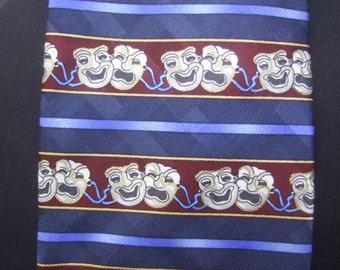 Silk Thespian Comedy & Tragedy Necktie