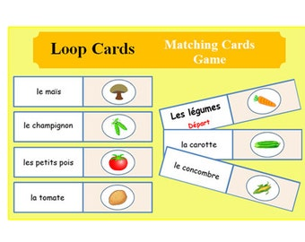 French Learning Cards - Vegetables - Lesson Plans - Kids Activities - Printable Activity-Teachers Resources-Lesson Plans-Language Lessons