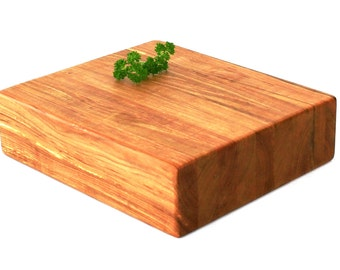 "Butcher Block Cutting Board - Thick Chopping Board - Maple - 10""x9""x2-3/4"" - Ready to Ship"