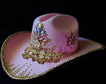 Crystal Embellished Western Cowgirl Hat