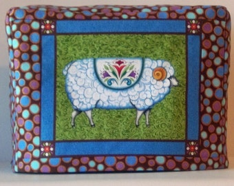 Sheep Toaster Cover, 2 Slice Toaster Cover, Blue and Green
