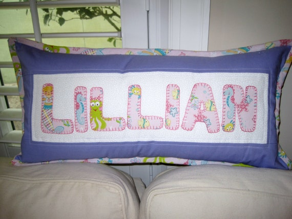 Custom Pillow - Made to Order - Patchwork, applique, and quilted