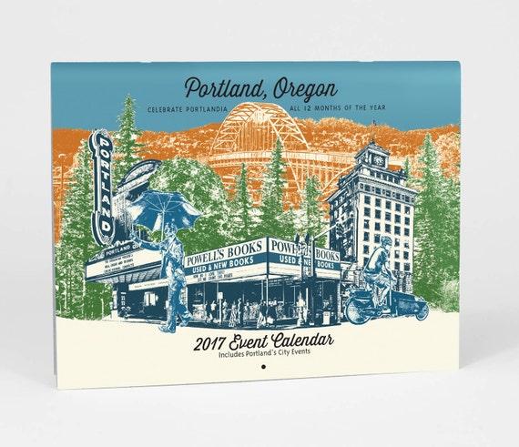 ON MEGA SALE!!! 2017 Portlandia Event Wall Calendar - Portland Oregon