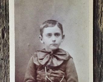 Original Antique CDV Photograph Little Lord Faunterloy