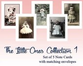 The Little Ones Collection 1, Whimsical Note Cards, Animal Cards, Vintage Cards, Anthropomorphic, All Ocassion Cards, Unique Card Set