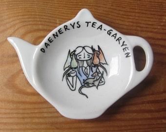 Daenerys Targaryen Spoon Rest - Game of Thrones Tea Pun - Tea Bag Tidy