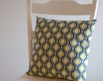 Blue and Green Home Decor Pillow