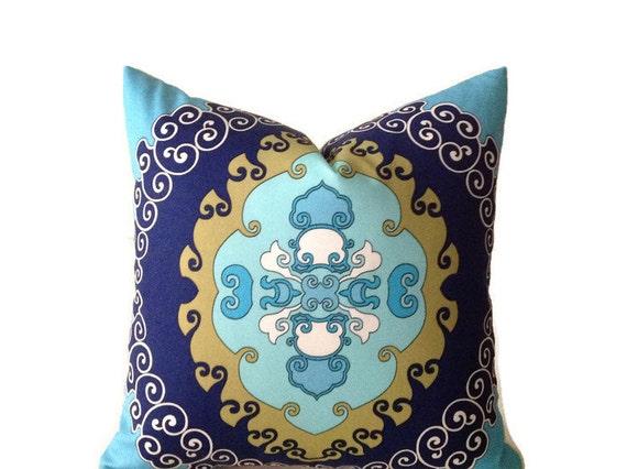 Trina Turk Super Paradise Print, Indoor Outdoor Pillow Cover, Decorative Pillow, Schumacher Medallion Pillow, Home Decor