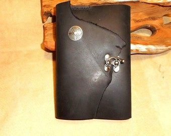 Leather Journal-Handmade Black Leather-Celtic Cross-Swivel Clasp-Refillable-Comes withFree Gift