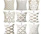 PILLOWS, Decorative Pillow, Throw Pillow, Accent Pillow, Euro Sham, Couch Pillow, Tan Pillow. Pillow Sham, Ecru, Cushion, Neutral, All Sizes
