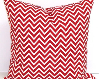 RED CHEVRON PILLOW Sale.14 inch.Pillow Cover.Decorative Pillows.Housewares. Red Throw Pillow. Pillow.Cushion.ZigZag Pillow.Red Cushion