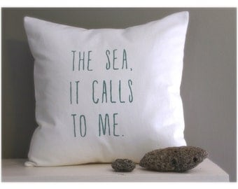 sea pillow cover | nautical pillows | sea foam green | coastal cottage