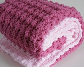 Large handmade extra thickness  crochet baby blanket/shawl.Choice of colours. Ideal Christening / shower /new baby  gift.