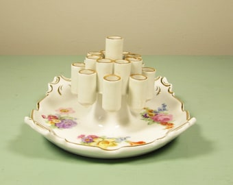 Bavaria Cigarette Holder Ashtray - Pencil Holder Flower Posy Trinket Dish