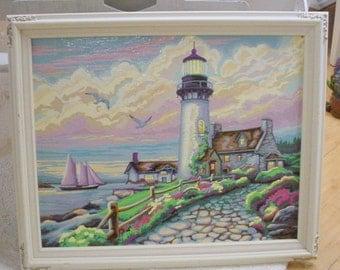 Paint By Number Painting Seashore Magnolias Vintage Farmhouse Cottage Chic