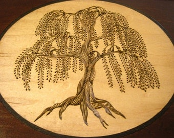 Weeping Willow Premium Tea Box: Mahogany & Maple Tea Chest with up to 12 compartments for Tea, Watches, Dice, and more