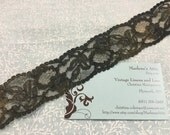1 yard of 1 1/2 inch Unique Black and Gold Chantilly lace trim for lingerie, goth, steampunk by MarlenesAttic - Item 7P