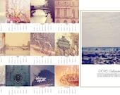 2016  calendar, Paris calendar, Year Calender - paris, france, paris photo calender, wall desk calender, planner, eiffel tower, photo gifts