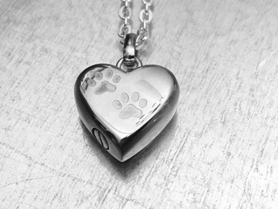 Cremation necklace pet urn urn locket ashes holder for Cremation jewelry for pets ashes
