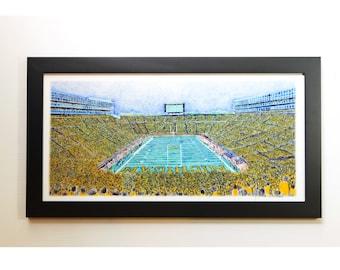 Michigan University Stadium Wall Art sports decor football