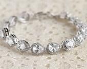 Teardrop Bracelet, Cubic Zirconia, Bridal Jewelry, Crystal Bracelet, Maid of Honor Gift, Bridal Bracelet, Teardrop Jewelry, Wedding Jewelry